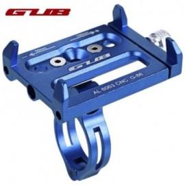 image of GUB ALUMINUM ALLOY ADJUSTABLE BICYCLE PHONE HOLDER BIKE HANDLEBAR MOUNT STAND (BLUE)