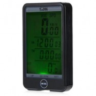 image of SUNDING SD - 576C WATERPROOF LARGE SCREEN MODE TOUCH WIRELESS BIKE COMPUTER SPEEDOMETER WITH LCD BACKLIGHT (BLACK)