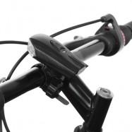image of BICYCLE USB CHARGING WATERPROOF LED SMART SHOCK SENSOR LIGHT BIKE FRONT LAMP (BLACK)
