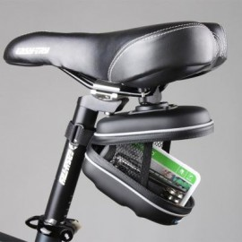 image of ROSWHEEL 0.5L BICYCLE EVA SADDLE BAG CASE BIKE REPAIR TOOLS PACK POCKET FOR BIKING RIDING CYCLING 13.5 x 9.5 x 7 cm