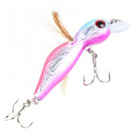image of 45MMÂ CICADA FISHING BAIT INSECT FISH LURE BAITS TACKLE HOOK (BLACK ANE PINK) -