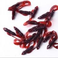 image of SOFT FISHING LURE ARTIFICIAL FAKE BAIT 20PCS/LOT 1G 5.5CM (BURGUNDY) 0