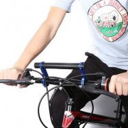 image of 20CM OUTDOOR LAMP BICYCLE COMPUTER FLASHLIGHT DOUBLE HANDLEBAR EXTENDER HOLDER (RED) 24.00 x 7.00 x 2.50 cm