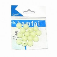 image of OUTDOOR FISHING EXCLUSIVE FLUORESCENT BEADS 10MM / 8MM / 6MM (LIMEADE) 6MM