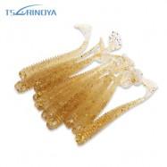 image of TSURINOYA 10PCS ARTIFICIAL SOFT LUMINOUS FISHING BAIT FISH TACKLE (TRANSPARENT GOLD) -