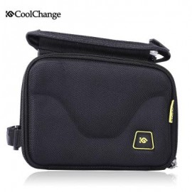 image of COOLCHANGE 12011 BIKE CYCLING 5 INCH SCREEN TOUCH FRONT TUBE BAG DOUBLE POUCH 18.00 x 15.00 x 11.00 cm