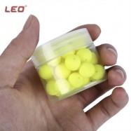 image of LEO 30PCS BEAN SHAPE EPS FOAM FLOAT BALL FOR OUTDOOR FISHING (YELLOW) -