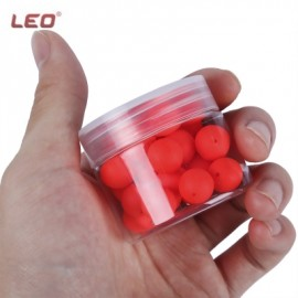image of LEO 30PCS BEAN SHAPE EPS FOAM FLOAT BALL FOR OUTDOOR FISHING (RED) -