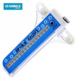 image of LEADBIKE BICYCLE WHEEL 21 FLASH PATTERNS 32PCS LEDS NIGHT SPOKE LIGHT LAMP (BLUE)