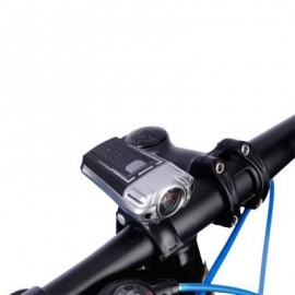 image of USB RECHARGEABLE BICYCLE FRONT LIGHT BIKE HANDLEBAR LIGHT (BLACK)