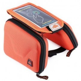 image of CBR B2 - 2 EVA OUTDOOR PORTABLE FRONT BEAM BAG TOUCH SCREEN POUCH FOR BIKE BICYCLE CYCLING (ORANGE)