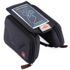 image of CBR B2 - 2 EVA OUTDOOR PORTABLE FRONT BEAM BAG TOUCH SCREEN POUCH FOR BIKE BICYCLE CYCLING (BLACK)