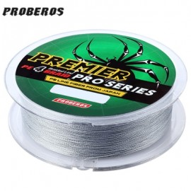 image of PROBEROS 100M DURABLE COLORFUL PE 4 STRANDS MONOFILAMENT BRAIDED FISHING LINE ANGLING ACCESSORY (GRAY) 6LBS