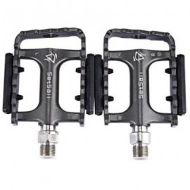 image of 2 PCS SETSAIL 921 DU BERING BIKE PEDALS WITH ANTI-SKID GEAR FRAME REFLECTIVE STRIPE (GRAY)