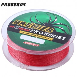 image of PROBEROS 100M DURABLE COLORFUL PE 4 STRANDS MONOFILAMENT BRAIDED FISHING LINE ANGLING ACCESSORY (RED) 6LBS