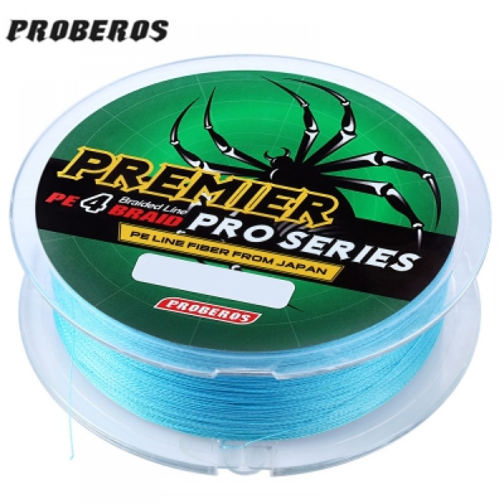 PROBEROS 100M DURABLE COLORFUL PE 4 STRANDS MONOFILAMENT BRAIDED FISHING LINE ANGLING ACCESSORY (BLUE) 6LBS