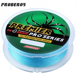 image of PROBEROS 100M DURABLE COLORFUL PE 4 STRANDS MONOFILAMENT BRAIDED FISHING LINE ANGLING ACCESSORY (BLUE) 6LBS