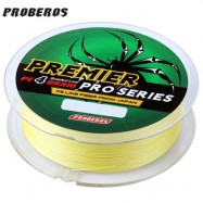 image of PROBEROS 100M DURABLE COLORFUL PE 4 STRANDS MONOFILAMENT BRAIDED FISHING LINE ANGLING ACCESSORY (YELLOW) 6LBS