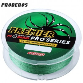 image of PROBEROS 100M DURABLE COLORFUL PE 4 STRANDS MONOFILAMENT BRAIDED FISHING LINE ANGLING ACCESSORY (GREEN) 6LBS