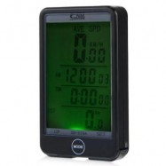 image of SD - 576A AUTO LIGHT MODE TOUCH WIRED BICYCLE COMPUTER SPEEDOMETER WITH LINE CONTROL (BLACK)