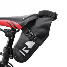 image of ROSWHEEL 111363 WATERPROOF BICYCLE SADDLE BAG CYCLING ACCESSORY (BLACK)