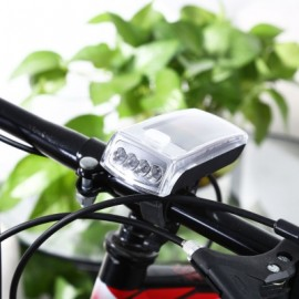 image of 4-LED SOLAR BIKE HEAD LIGHT FRONT TORCH LAMP OUTDOOR EQUIPMENT (SILVER)