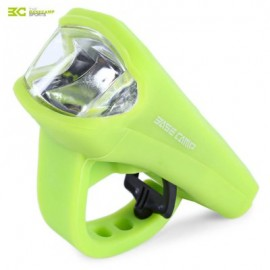 image of BASECAMP MTB BICYCLE 3W LED SILICA GEL WATERPROOF USB CHARGING FRONT LIGHT LAMP BIKE ACCESSORIES (GREEN)