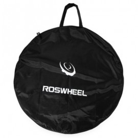 image of ROSWHEEL PORTABLE CYCLING ROAD MOUNTAIN BICYCLE MTB SINGLE WHEEL CARRIER BAG (BLACK)
