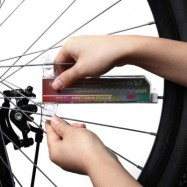 image of D016C BICYCLE DOUBLE DISPLAY 32 LEDS 20 PATTERN WORDS WHEEL LIGHT SPOKE LAMP 16.50 x 9.00 x 1.50 cm