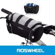 image of ROSWHEEL 5L BIKE HANDLEBAR BAG BICYCLE FRONT TUBE POCKET SHOULDER PACK RIDING CYCLING SUPPLIES (GRAY)
