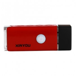 image of USB CHARGING FOUR MODES WATERPROOF BICYCLE FRONT FLASHLIGHT (RED)
