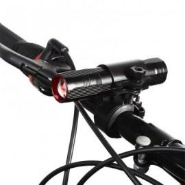 image of BIKE CYCLING PORTABLE FLASHLIGHT BICYCLE FRONT HANDLEBAR LIGHT WITH BRACKET 11.80 x 2.50 x 2.50 cm