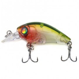 image of 35MM MINI CRANK FISHING LURE PLASTIC HARD BAIT (GREEN) -