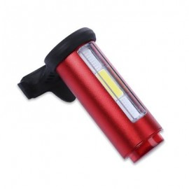 image of CYCLING 360 DEGREE NIGHT BIKE RECHARGEABLE LIGHT FOR MOUNTAIN ROAD BICYCLE (RED) 7.50 x 7.50 x 10.50 cm
