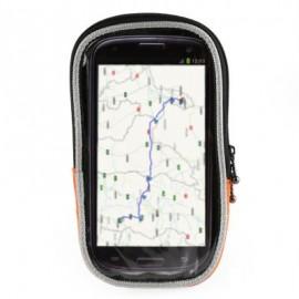 image of ROSWHEEL QUICK DISASSEMBLING FASTENER DOUBLE ZIPPER TOUCH SCREEN BIKE HANDLEBAR PHONE BAG (ORANGE) M