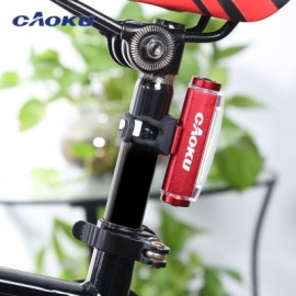 image of CAOKU HY - LD226 MOUNTAIN ROAD BIKE USB RECHARGEABLE TAIL LAMP NIGHT CYCLING SAFETY WARNING LIGHT (RED)