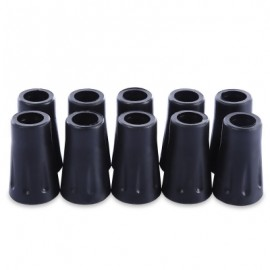 image of 10PCS HIKING POLE REPLACEMENT TIP PROTECTOR TREKKING STICK HEAD CLIMBING ACCESSORY (BLACK) -