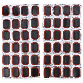 image of 48PCS 25MM RUBBER REPAIR TIRE PIECE SUIT FOR BICYCLE 13.00 x 7.00 x 2.50 cm / 5.12 x 2.76 x 0.98 inches