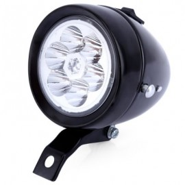 image of 6 LEDS VINTAGE BIKE HEADLIGHT WATERPROOF RETRO BICYCLE ACCESSORY (BLACK)