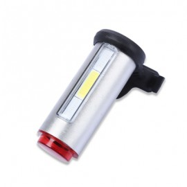 image of CYCLING 360 DEGREE NIGHT BIKE RECHARGEABLE LIGHT FOR MOUNTAIN ROAD BICYCLE (SILVER)
