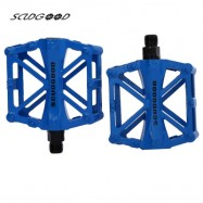 image of SCUDGOOD SG - 1021 PAIRED ALUMINIUM ALLOY BICYCLE PEDAL (BLUE)