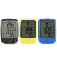 image of CYCLING ODOMETER SPEEDOMETER LCD GREEN BACKLIGHT (BLACK/YELLOW/BLUE) 5.50 x 4.00 x 2.00 cm