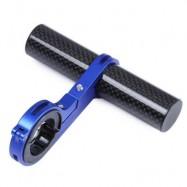 image of OUTDOOR MTB BIKE BICYCLE CARBON FIBER HANDLEBAR BRACKET FLASHLIGHT HOLDER EXTENDER MOUNT (BLUE) 11.10 x 10.30 x 6.00 cm