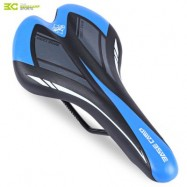 image of BASECAMP CYCLING BICYCLE MTB LEATHER RIDE CUSHION SEAT MAT SADDLE (BLACK AND BLUE)