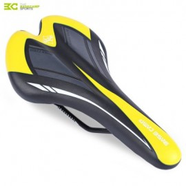 image of BASECAMP CYCLING BICYCLE MTB LEATHER RIDE CUSHION SEAT MAT SADDLE (YELLOW AND BLACK)