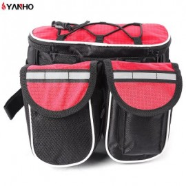 image of YANHO CYCLING PACKET BAG WITH REFLECTIVE STRIPE OUTDOOR TOOL (RED)
