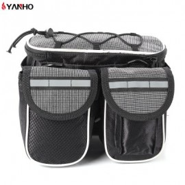 image of YANHO CYCLING PACKET BAG WITH REFLECTIVE STRIPE OUTDOOR TOOL (GRAY)