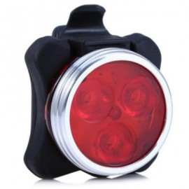 image of 3 LED USB RECHARGEABLE BIKE TAIL LIGHT CAUTION LAMP NIGHT TORCH (RED)
