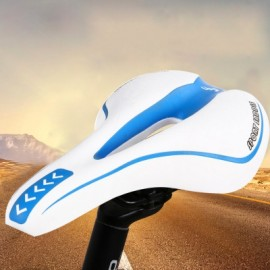 image of YAFEE SPORTS BIKE MTB SADDLE FRONT SEAT MAT CUSHION (BLUE AND WHITE)