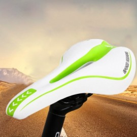 image of YAFEE SPORTS BIKE MTB SADDLE FRONT SEAT MAT CUSHION (WHITE AND GREEN)